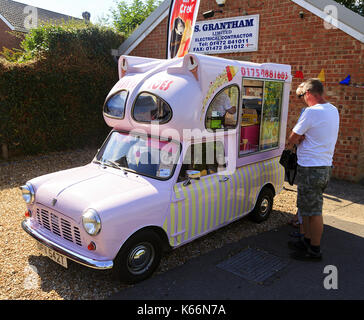 Austin Morris Mini Van conversion to Ice Cream Van circa 1979 - Stock Photo