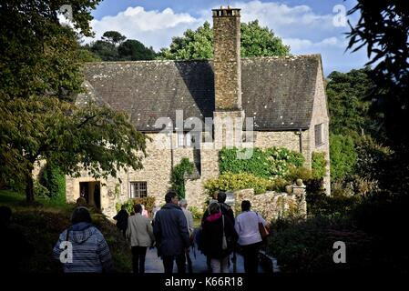 Coleton Fishacre f a 24-acre (97,000 m2) garden and a house in the Arts and Crafts style, Kingswear, Devon, England. - Stock Photo