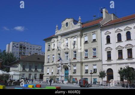 Town Hall, Fo Ter, Obuda, Budapest, Hungary - Stock Photo