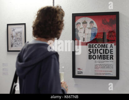 STANDALONE PHOTO A print by Darren Cullen, entitled Spelling Mistakes Cost Lives Become A Suicide Bomber, 2017, - Stock Photo
