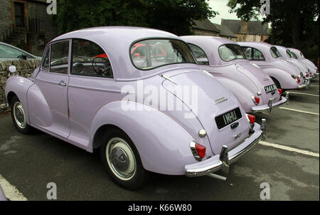 Commemorative Morris Minor Million Special Edition Lilac Car Stock