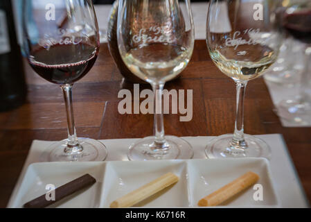 Speier Winery Chocolate Tasting Stellenbosch South Africa - Stock Photo