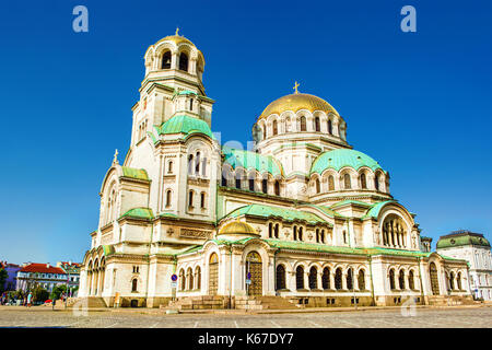 Alexander Nevsky Cathedral in Sofia (Bulgaria), HDR-technique - Stock Photo