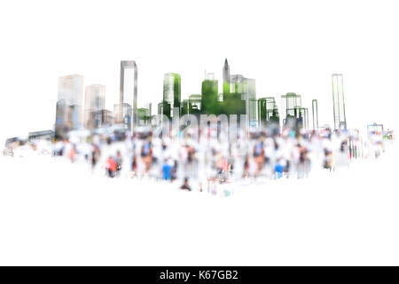 Big data , smart city energy , electric Energy Distribution chain industry technology concept.  3D rendering of - Stock Photo
