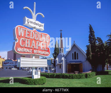 Las Vegas Nevada A Wedding Chapel Advertises 99 Dollar