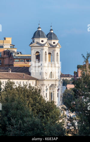 Rome seen from Terrazza del Pincio, Lazio, Italy, Europe Stock Photo ...