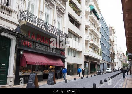 SAN TELMO, BUENOS AIRES, ARGENTINA - SEPTEMBER 2017 - Cafe La Puerto Rico, an important bar in San Telmo to buy - Stock Photo