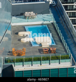 Rooftop swimming pool - Stock Photo