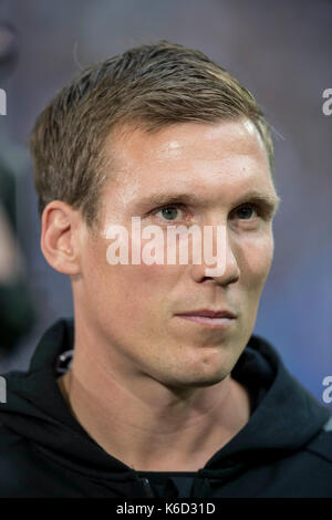 Gelsenkirchen, Deutschland. 10th Sep, 2017. Trainer Hannes WOLF (S) Fussball 1. Bundesliga, 3. Spieltag, FC Schalke - Stock Photo