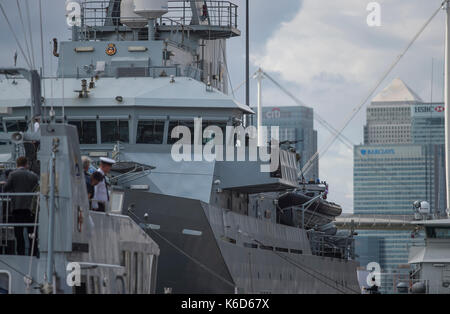 ExCel, London, UK. 12th Sep, 2017. Defence and Security Equipment International (DSEI), the worlds leading global - Stock Photo