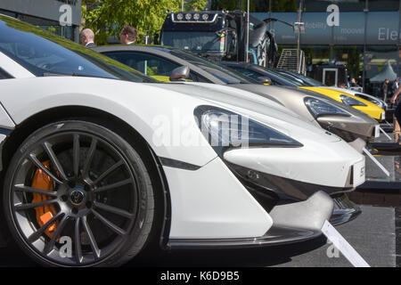 Frankfurt, Germany. 12th Sep, 2017. McLaren at the 65th IAA International Motor Show in Frankfurt/Main on Tuesday, - Stock Photo