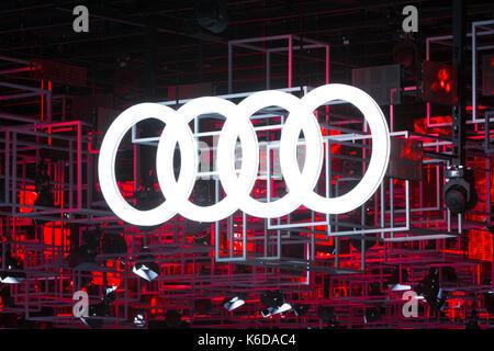 Frankfurt, Germany. 12th Sep, 2017. Germany, Frankfurt, September 12, 2017, 67th International Motorshow IAA: Audi - Stock Photo