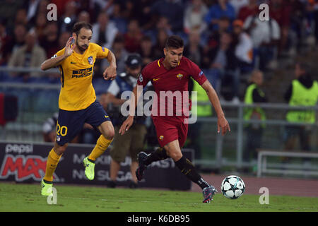 ROME, ITALY . 12 september 2017. Olimpic Stadium. UEFA CHAMPIONS LEAGUE 2017/2018. MATCH AS ROMA VS ATLETICO MADRID. - Stock Photo