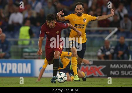 ROME, ITALY . 12 september 2017. Olimpic Stadium. UEFA CHAMPIONS LEAGUE 2017/2018. MATCH AS ROMA VS ATLETICO MADRID. - Stock Photo