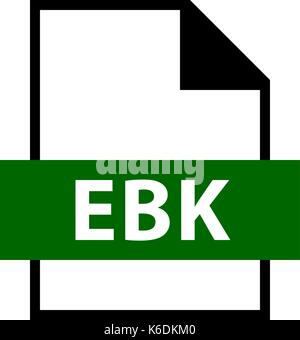 Use it in all your designs. Filename extension icon EBK EARS Database Backup or Email Saver Xe Backup File or Embiid - Stock Photo