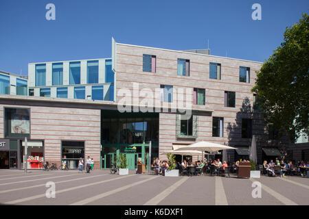 Muenster in Westfalen : Moderne Architektur in Fussgaengerzone Stubengasse I Modern Architecture in Street stubengasse, - Stock Photo