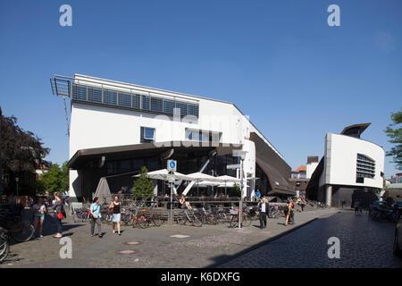 Muenster in Westfalen : Stadtbibliothek, Moderne Architektur  I Modern Architecture, City Library, Münster in Westphalia - Stock Photo