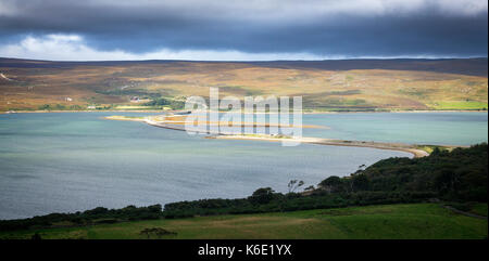 Kyle of Tongue Causeway and Bridge - Stock Photo