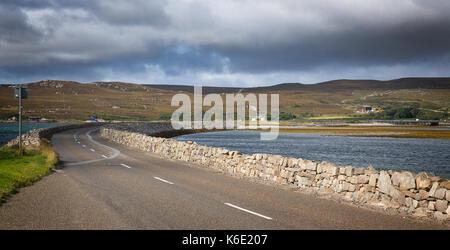 Kyle of tongue causeway and bridge, Sutherland, Scotland - Stock Photo