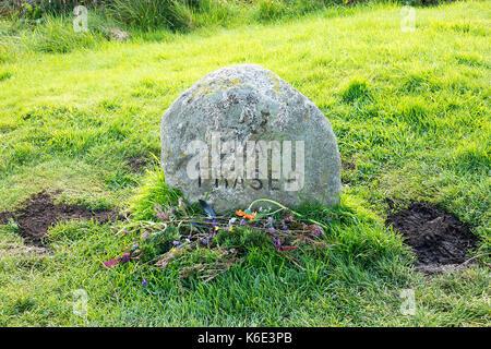 Clan Fraser Headstone, Culloden Battlefield, Scotland
