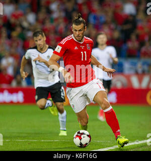 Gareth Bale of Wales during the FIFA World Cup 2018 qualification match between Wales and Austria, September 2nd - Stock Photo