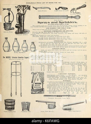 Currie's general wholesale catalogue for florists, market gardeners and truckers (16387869442) - Stock Photo