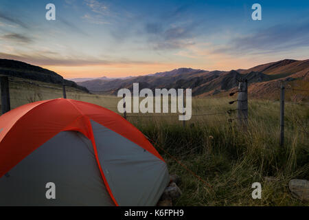 Three peaks ( Tres Picos ) a mountain range at Buenos Aires 's Pampa grasslands during a winter Hiking and camping - Stock Photo