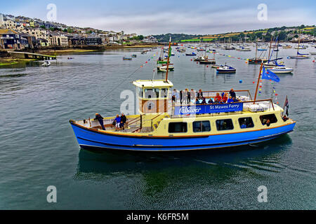Falmouth Cornwall harbour St Mawes ferry Duchess of Cornwall boats and yachts - Stock Photo