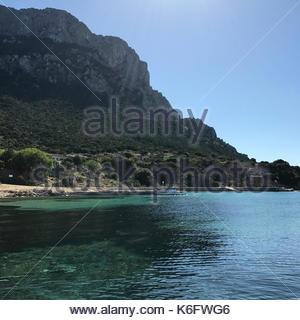 tavolara island, gallura, sardinia, italy - Stock Photo