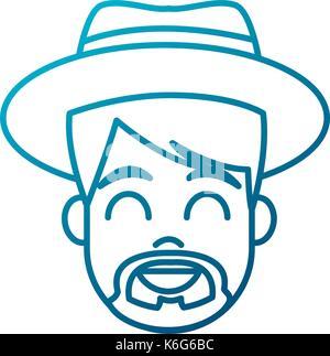Young man cartoon - Stock Photo