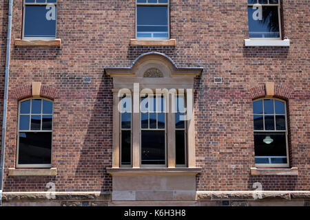 Old Brick Heritage Building Window Detail In The Rocks Sydney Australia, Australian Architecture - Stock Photo
