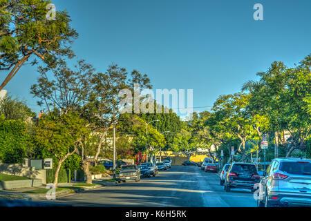 Suburbs in southern California, USA - Stock Photo