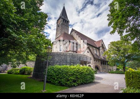 Church of St. Nicholas in Balzers, Liechtenstein - Stock Photo