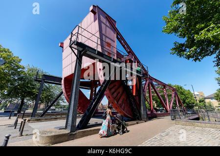 Rotherhithe Street Bascule Bridge in London, England, United Kingdom, UK - Stock Photo
