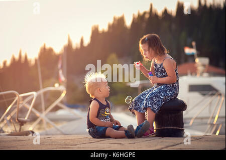 childern on a vacation - Stock Photo