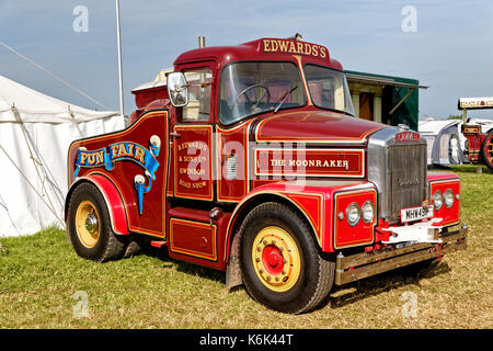 1967 Scammell Highwayman, The Moonraker, MHW 491F, at the 2017 Great Dorset Steam Fair, Tarrant Hinton, Blandford, - Stock Photo