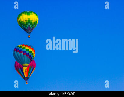 Multiple Hot Air Balloons - Stock Photo