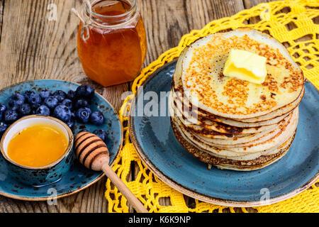 Pancakes for Thanksgiving dinner. Studio Photo - Stock Photo