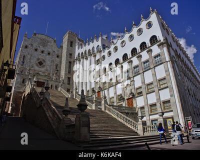 Guanajuato, Mexico - 2017: University of Guanajuato main building, located in the historic center. - Stock Photo