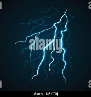 Lighting storm bolt concept background, realistic style - Stock Photo