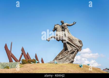 Antonio Maceo Monument, Plaza de la Revolucion, monument to mulatto national hero general Antonio Maceo Grajales - Stock Photo