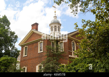 Carpenters' Hall, Independence National HIstoric Park, Philadelphia, Pennsylvania, United States - Stock Photo