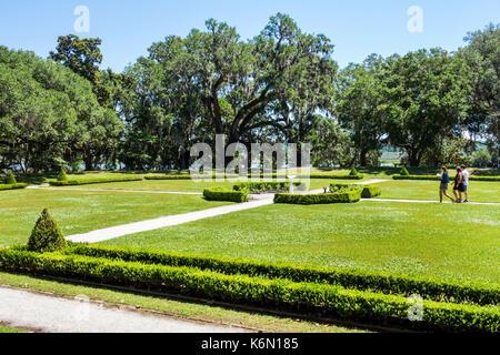 Charleston South Carolina SC Middleton Place National Historic Landmark Ashley River rice plantation antebellum - Stock Photo
