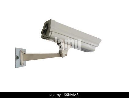 closed circuit camera of CCTV isolated on white background and have clipping paths to easy deployment. - Stock Photo