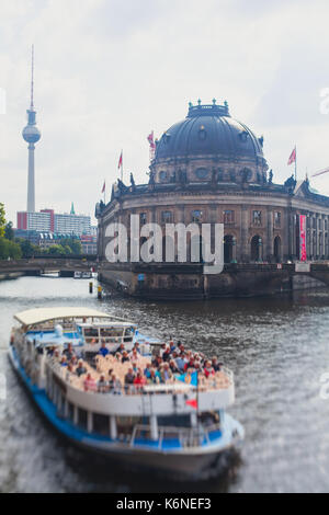 View of famous Museum Island in central Mitte district of Berlin, Germany - Stock Photo
