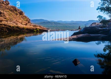 Gunlom Infinity Pool, Kakadu National Park, NT - Stock Photo