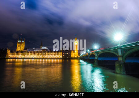 Big Ben & The Houses of Parliament, London, United Kingdom - Stock Photo
