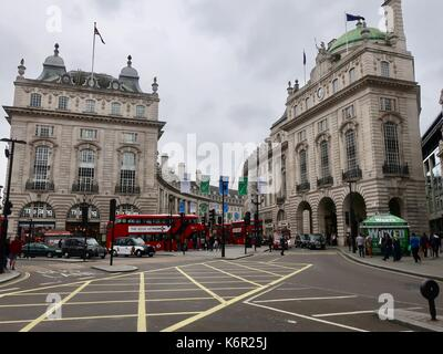 Piccadilly circus and Regent Street, London - Stock Photo