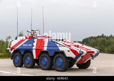 Leusden, the, Netherlands. 15th Aug, 2017. German company Rheinmetall presents its Armoured Transport Vehicle 'Boxer' - Stock Photo