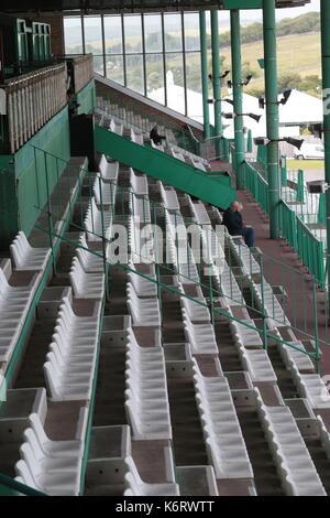 Grandstand Brighton Racecourse - Stock Photo